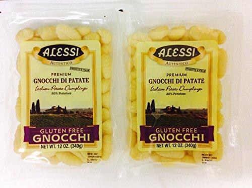 Alessi Gluten-Free Gnocchi - Italian Potato Dumplings Pack of 2 - 12 oz.
