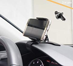 ZOORE Soporte teléfono coche, Universal 360 Grados de Salpicadero rotación del teléfono Mobile Soporte compatible for iPhone X 8 Samsung Huawei Xiaomi GPS ect Soporte de navegación para coche soporte.