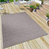 VIMODA Robuster Flachgewebe Teppich In- und Outdoor Tauglich 100% Polypropylen, Maße:160x230 cm