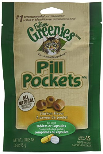 Greenies Pill Pockets CHICKEN 1.6 oz (45 pockets)