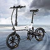 INOVIX eléctrica Plegable Bicicleta de montaña para Exteriores, 3 Modos, Neumáticos de 20' con batería de Iones de Litio de 36 V / 11,6 AH, Cambio Profesional Shimano de 7 velocidades (WHITE-D2s)