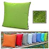 fashion and joy Outdoor Lounge Dekokissen Lotus Effekt 45x45 in grün wetterfest schmutz- und...