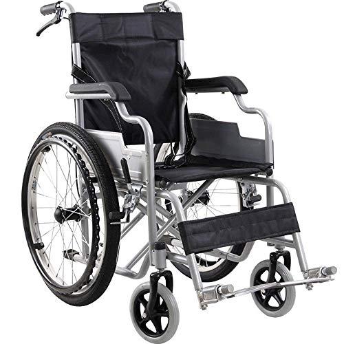 IREANJ Silla de rehabilitación médica, silla de ruedas, silla de ruedas ligera ergonómico 14Kg plegable médico del transporte cómodo reposabrazos respaldo del asiento balanceo de la pierna Resto 100Kg