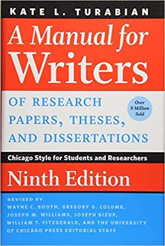 [022649442X] [9780226494425] A Manual for Writers of Research Papers, Theses, and Dissertations, 9th Edition: Chicago Style for Students and Researchers-Hardcover