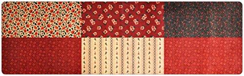 Deco de Mat antidérapante pour Tapis Lavable de Chemin De Idéal pour extérieur et de Grun de Rouge 80 x 250 cm