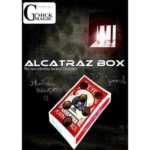 SOLOMAGIA Alcatraz Box by Mickael Chatelain (Dvd & Blu Gimmick) - Originale - Dvd e Didattica - Giochi di Magia