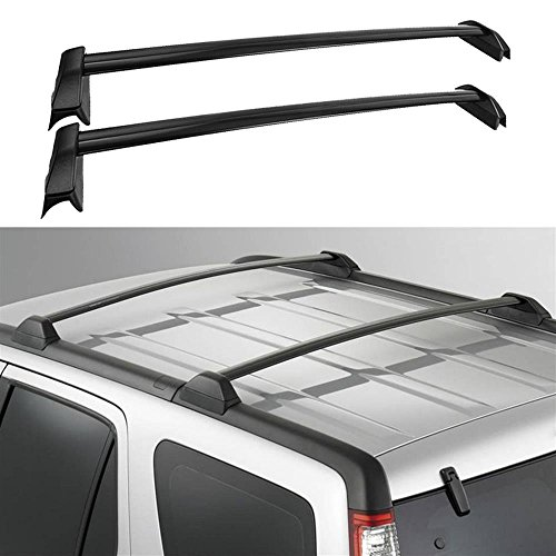 AUXMART 2 Pcs Roof Rack Cross Bars Crossbars Compatible for Honda CR-V 2002 2003 2004 2005 2006, OE Style Aluminum Rooftop Rail Bars Luggage Rack Cargo Carrier (Black)