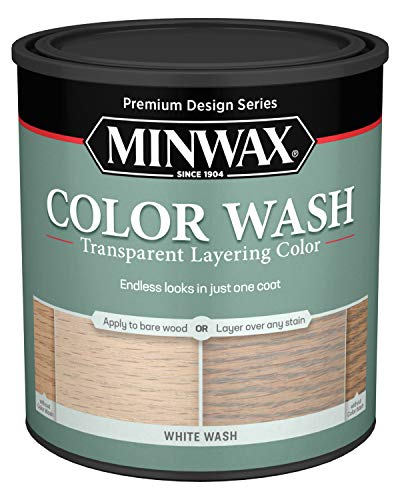 Minwax 618604444 Color Wash Transparent Layering Color, White Wash, 1 Quart