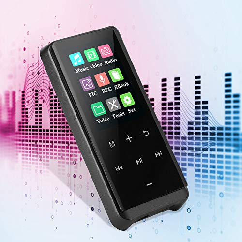 Surebuy Reproductor MP3 con Pantalla táctil, Reproductor de MP3 Bluetooth para música para Deportes(#0, 1)