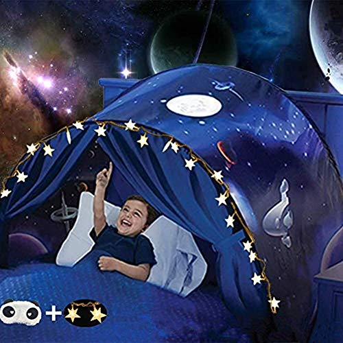 Nifogo Pop Up Bed Tent, Magical Bed Tents for Kids, Foldable Magic Play Tent Fairy Playhouse Play Tent Bedroom Festival Decoration Tent