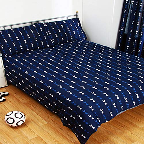 Tottenham Hotspur FC Official Pulse Design Reversible Single Duvet Set (Single) (Navy) image