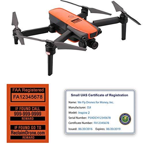 Autel Robotics EVO Drone - FAA ID Bundle - Labels (3 Sets of 3) + FAA UAS Registration ID Card for Commercial Pilots