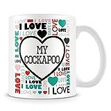 I Love My Cockapoo Mug (Personalised Mug - Add Photo) Customised Love-Heart Mosaic Design Gift