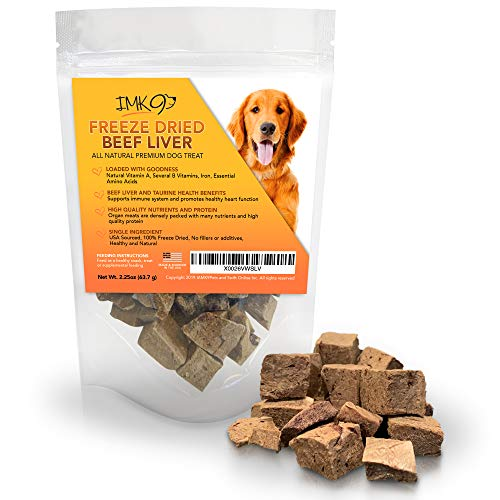 Freeze Dried Liver Treats for Dogs  Natural Taurine Source 100% Pure Premium Single Ingredient Grain Free  Healthy Training Treats for Puppies No Additives Preservatives or Gluten  Made in USA