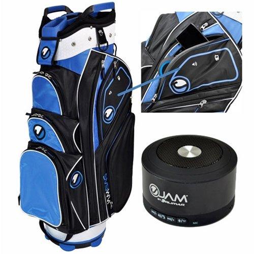 Orlimar 2015 Ojam Rhythm Speaker Golf Cart Bag (Wireless Ojam Speaker Included), Black/Royal/White