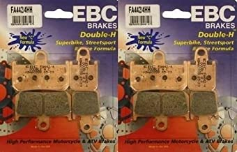 EBC Sintered Double H Front Brake Pads (2 Sets) for Both Calipers 2007-2013 Yamaha YZF-R1 FA442/4HH