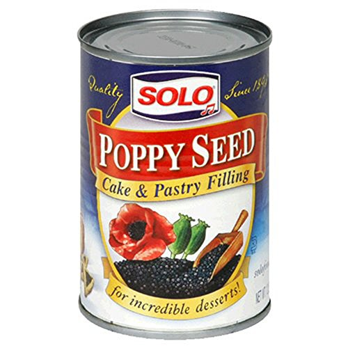 Solo PoppySeed Cake & Pastry Filling 12.5oz (4 Pack)