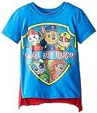PAW Patrol Boys' Toddler Small But Tough Cape T-Shirt, Blue, 5T