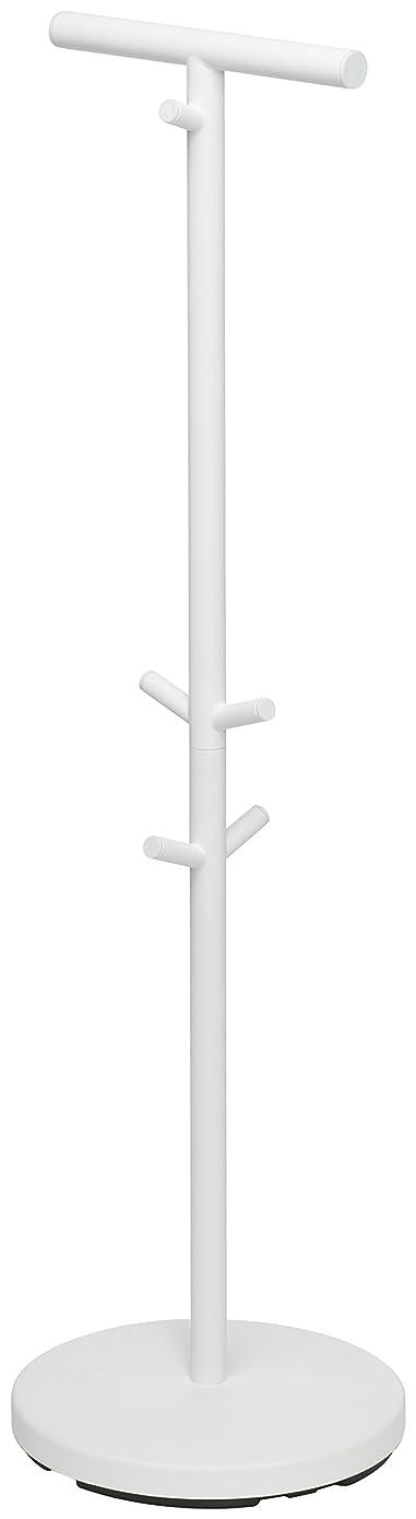 エチケットウェイトレス発見する山崎実業(Yamazaki) ハンガーラック ホワイト 約W28XD28XH100cm 3494