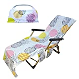 Prosaice Beach Chair Cover, Non-Slip Quick-Drying Lounge Towel Clothing for Hotel Garden Lawn