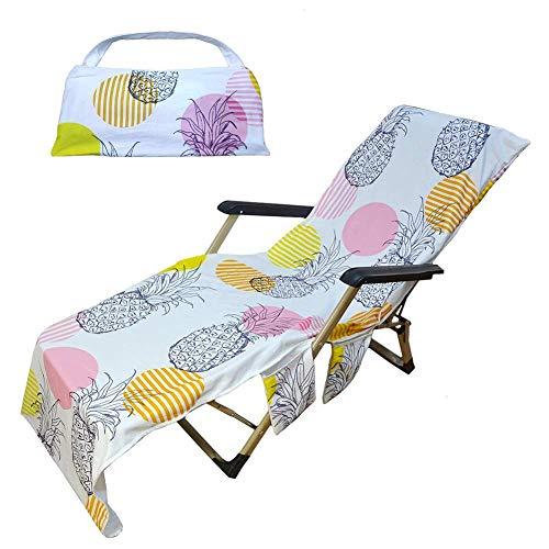 Opfury Toalla de playa cubierta antideslizante de secado rápido Lounge-Toalla, toalla de mano refrescante toalla de playa playa funda de piscina toalla para silla Lounger 75 215 cm
