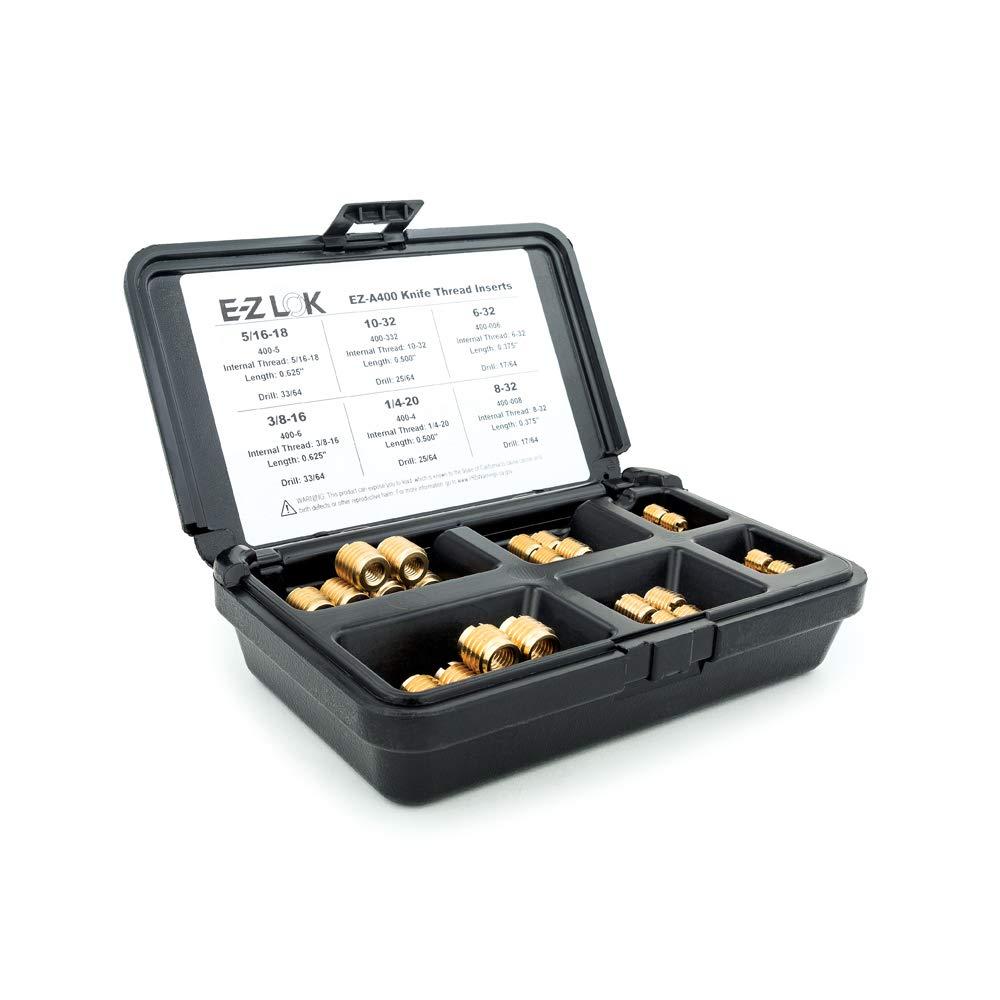 E-Z LOK EZ-A400 Threaded Great interest Inserts Kit; Regular discount Brass for Wood; Assortment