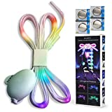 ELLAXTO LED Shoelaces - Multicolor Shoe Laces Make You Stand Out Immediately!