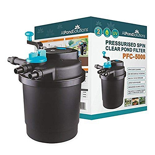 All Pond Solutions Pressurised Koi Fish Pond Filter and UV Steriliser for PFC,...