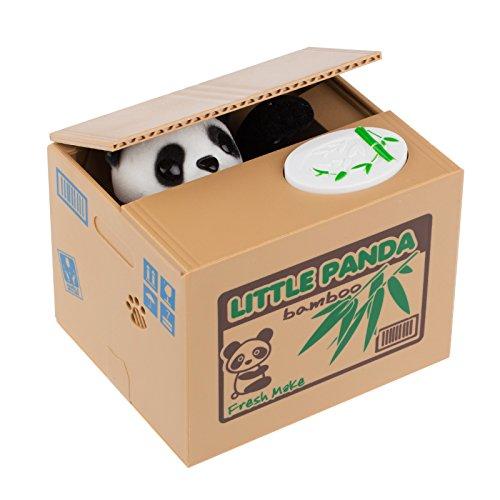 TiooDre Hucha Gato, Hucha Panda, Hucha Gato Roba Monedas Caja De Dinero De Ahorro Frasco (Panda)