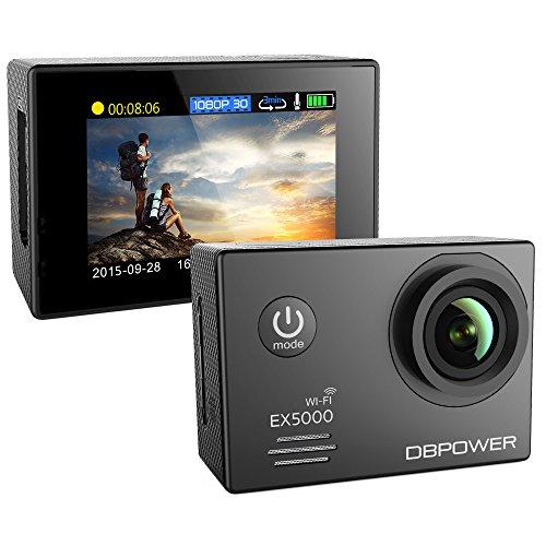 DBPOWER–Autentico Action Camera e per sport impermeabile EX5000Wi-Fi 14MP Full HD con 2batterie migliorate e accessori gratuiti