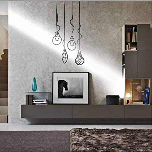 Wall Decal Lamps Light Bulbs Sticker Idea Decal Adhesive Lamps Nerd Sticker Wall Decals Wall Stickers Wall Art Door Stickers