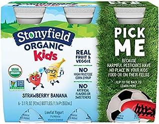 Stonyfield Organic, YoKids Strawbana Low Fat Smoothies, 3.1 oz, 6 Count