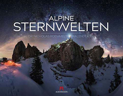 Alpine Sternwelten Kalender 2021, Wandkalender im Querformat (54x42 cm) - Nachtaufnahmen mit Sternenhimmel in den Alpen