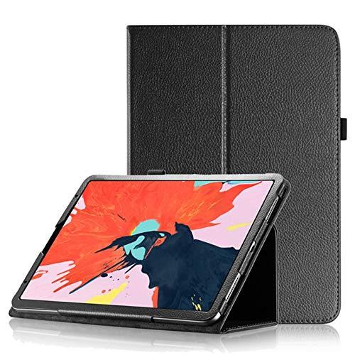 Estuche Protectora de iPad Litchi Texture Horizontal Flip Funda de Cuero para iPad Pro 11 Inch 2018, con función de Soporte y sueño/Despertador Wenhengshangmaoyuxiangongsi (Color : Black)