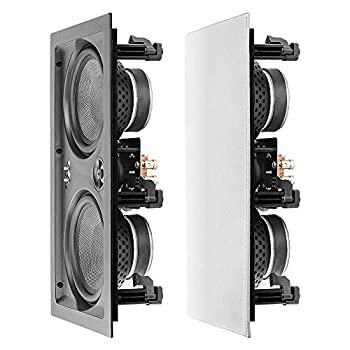 """OSD Audio 6.5"""" Trimless in-Wall LCR Speaker - Dual Woofers & Dome Tweeter Single - IW650LCR"""