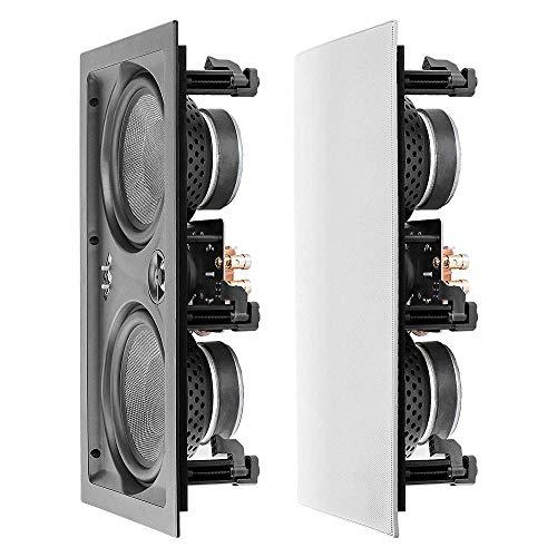 OSD Audio IW650 16,5 cm (16,5 Zoll) LCR-Lautsprecher mit Zwei schwarzen Kevlar-Tieftönern und Aluminium-Hochtöner, 200 W (Einzel)