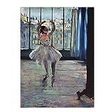 Carteles de bailarina de Ballet de Edgar Degas francés impresiones lienzo arte de pared cuadros de pared decoración de la pared del hogar-20x28 pulgadas x1 Sin marco