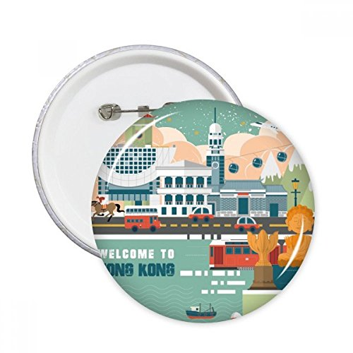Produit de Hong Kong Chine broches rondes badge Button Vêtements Décoration Cadeau 5pcs XXL