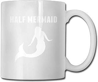 Demi sirène 1 tasse à café 11 oz Mens Classic Gifts Tea Cup Un cadeau parfait pour votre famille et vos amis