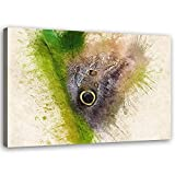 Feeby Leinwandbild XXL abstrakt Wandbild Kunst Insekte