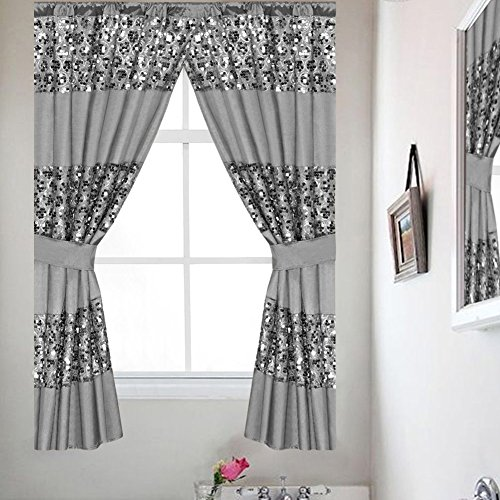 Popular Bath Silver Sinatra, Window Curtain