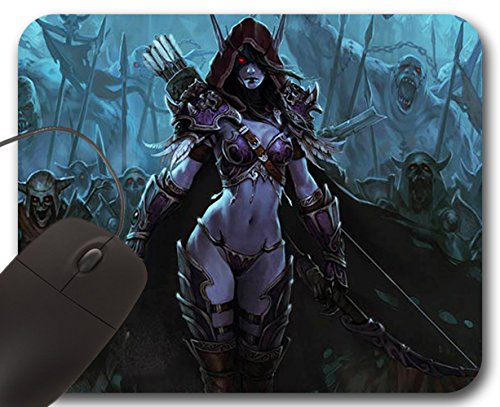 Sylvanas Windrunner Mousepad WOW - World of Warcraft Accessory (A) Muismat