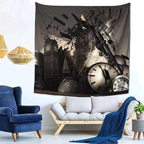 Lsjuee Time Travel Hotel Machine Tapestry Wall Hanging Home Decor Fan Art per Camera da letto Soggiorno Dormitorio