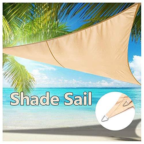 Shade Sails NEVY - Driehoek Anti-UV Zon Waterbestendig PES Zonnescherm Luifel Met PE Touw Voor Patio Achtertuin 4 Maten 5x5x5m Beige