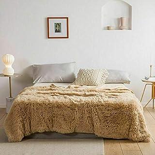 AritradersLTD - Manta de forro polar supersuave para sofá cama doble King, beige, matrimonio