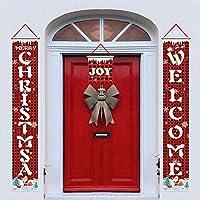 Entweg 3ピースクリスマスポーチサインメリークリスマスバナー家の壁のガーデンパーティーギフトフェスティバルクリスマス屋内屋外装飾のためのクリスマスの装飾をぶら下げ,クリスマスの装飾