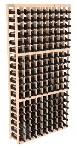 Wine Racks America Pine 9 Column Wine Cellar Kit. Unstained