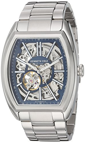 Kenneth Cole New York Men's Automatic-self-Wind Watch with Stainless-Steel Strap, Silver, 12 (Model: 10030812)