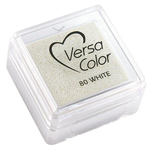 Rayher Hobby 28395102  Stempelkissen Versacolor, Stempelfläche 2,5 x 2,5 cm, weiß