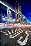 Poster 60 x 90 cm: Potsdamer Platz Lichtspuren von Marcus